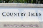 Country Isles community sign